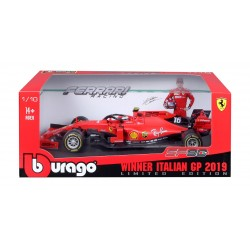 Ferrari SF90 16 F1 Winner Grand Prix d'Italie 2019 Charles Leclerc Bburago BBU18-16810