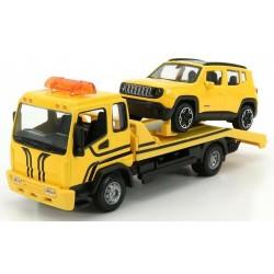 Set dépanneuse avec Jeep Renegade Orange Black Bburago BBU18-31417