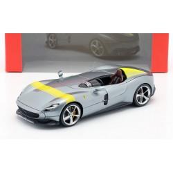 Ferrari Monza SP1 Silver Yellow Bburago BBU18-16013GREY