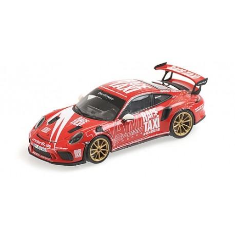 Porsche 911 991.2 GT3RS 2019 Indischrot Getspeed Race Taxi Minichamps 410067024
