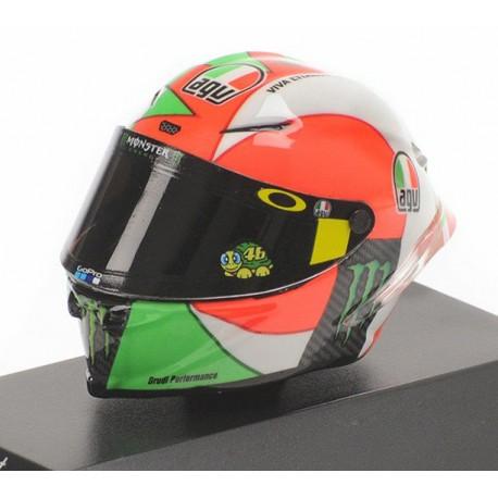 Casque Helmet 1/8 AGV Valentino Rossi Moto GP Mugello 2018 Minichamps 399180086