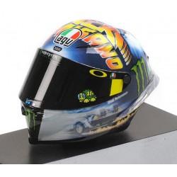 Casque Helmet 1/8 AGV Valentino Rossi Moto GP Misano 2018 Minichamps 399180096