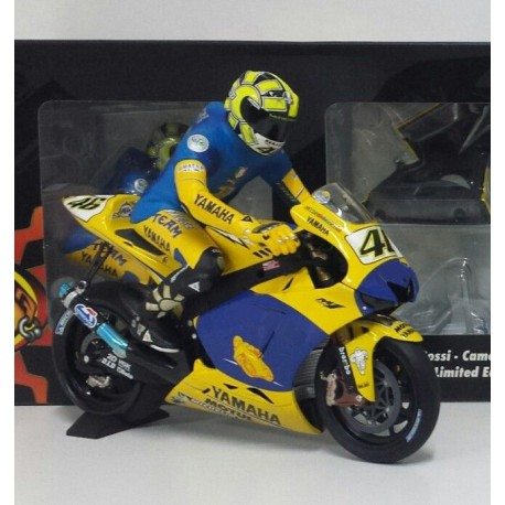 Yamaha YZR M1 46 Moto GP Winner Sachsenring 2006 Valentino Rossi Dirty version with figurine Minichamps 123063096