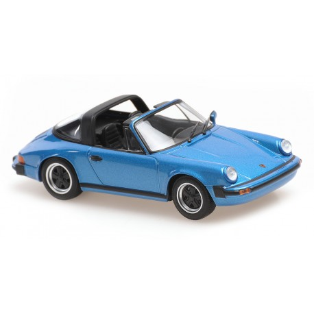 Porsche 911 Targa 1977 Blue Metallic Minichamps 940061261