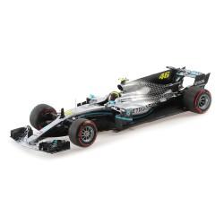 Mercedes F1 W10 EQ Power+ 46 F1 Valencia 2019 Valentino Rossi Ride Swap Minichamps 110191746