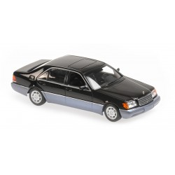 Mercedes Benz 600 Sel W140 1991 Black Metallic Minichamps 940035400
