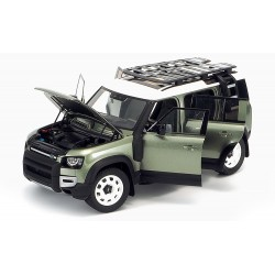 Land Rover Defender 110 with roof pack 2020 Pangea Green Minichamps ALM810804