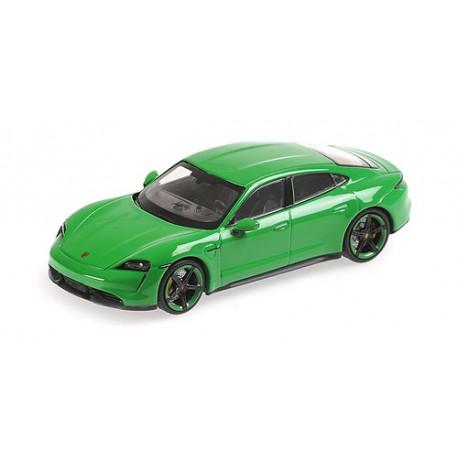 Porsche Taycan Turbo S 2020 Mamba Green Metallic Minichamps 410068471