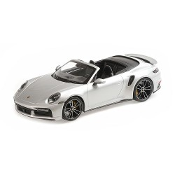 Porsche 911 992 Turbo S Cabriolet 2020 Silver Minichamps 155069082