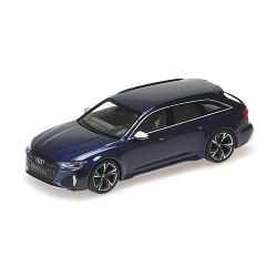 Audi RS6 Avant 2019 Blue Metallic Minichamps 410018011