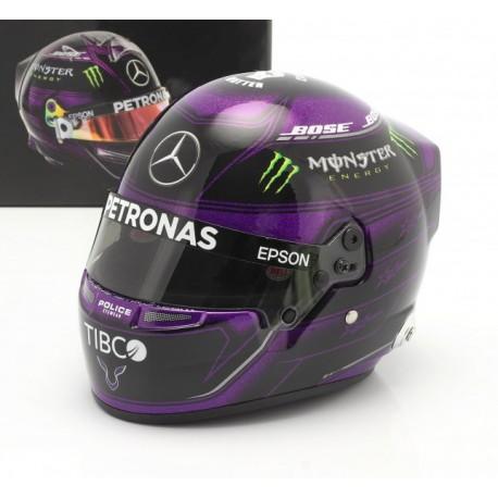 Casque Helmet 1/2 Lewis Hamilton F1 2020 Black Purple Bell