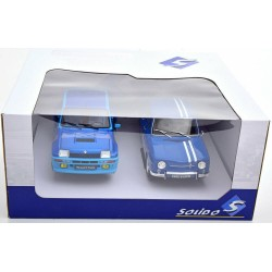 Renault R5 Turbo et Renault R8 Gordini Bleue Solido S180005