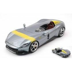 Ferrari Monza SP1 Silver Yellow Bburago BBU18-26027GREY