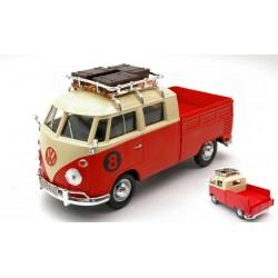 VW T1 Doka Yellow Red Motormax MOM79582