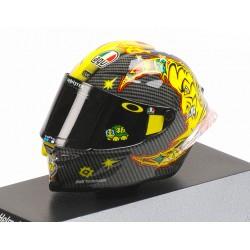 Casque Helmet 1/8 AGV Valentino Rossi Moto GP Test Sepang Day 2 2018 Minichamps 399180066
