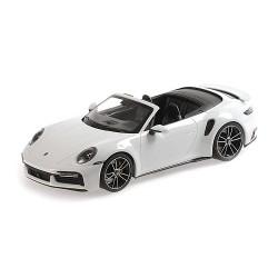 Porsche 911 992 Turbo S Cabriolet 2020 White Metallic Minichamps 155069080