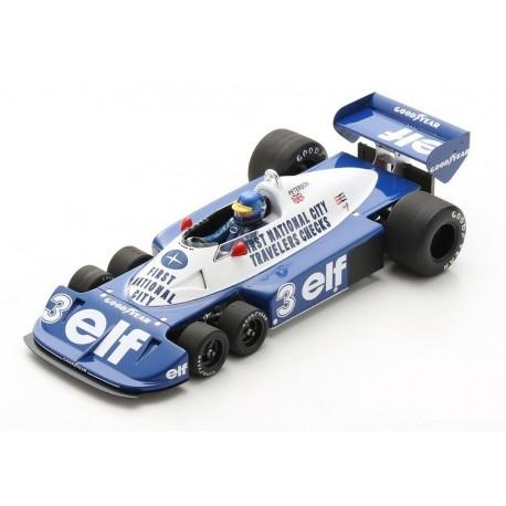Tyrrell P34 3 F1 Brésil 1977 Ronnie Peterson Spark 18S472