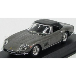 Ferrari 275 GTB Spider Cabriolet Closed 1967 Grey and Black Best Model 9538