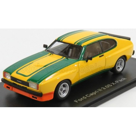 Ford England Capri MKII 3.0S X-Pack Coupe 1981 Yellow Green NEO NEO46106