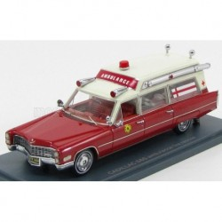 Cadillac S&S Ambulance Fire rescue 1966 Red NEO NEO43899