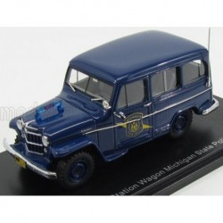Jeep Willys Station Wagon Michigan State Police 1954 Blue NEO NEO49538