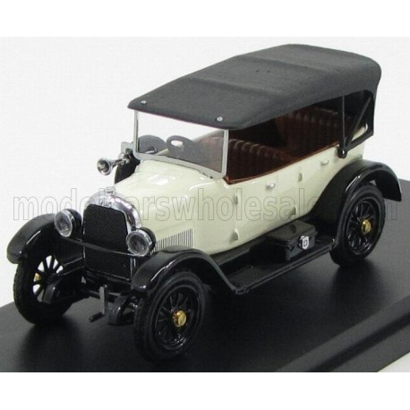Fiat 501 Sport Cabriolet Closed 1919 White and Black Rio Models 4446