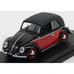 Volkswagen Beetle Cabriolet Closed Karmann 1949 Red and Black Rio Models 4420