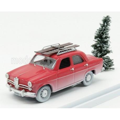 Alfa Romeo Giulietta TI winter holidays with ski 1957 Red Rio Models 4615