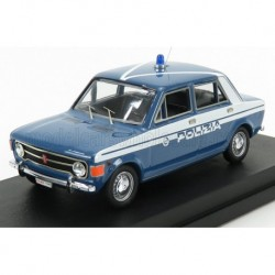 Fiat 128 4 Doors Polizia Stradale 1970 Light Blue and White Rio Models 4167/2