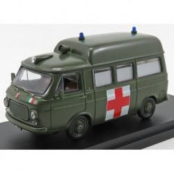 Fiat 238 Van Tetto Alto Ambulance militaire 1970 Military Green Rio Models 4625