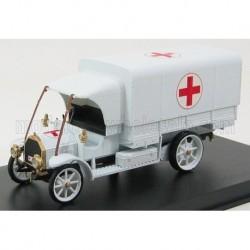 Fiat 18BL Ambulance Croce Esercito Italiano 1915 White Rio Models 4320