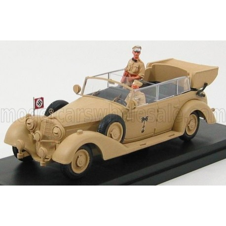 Mercedes Benz 770K Africa Korps Rommel With Figures 1941 Military Sand Rio Models 4342/P