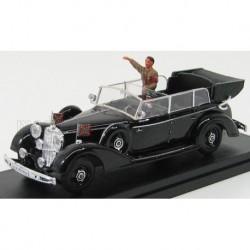 Mercedes Benz 770K With Hitler 1942 Black Rio Models 4064/P