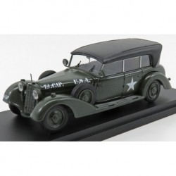 Mercedes Benz 770W Cabriolet Closed USA Army 1945 Military Green and Black Rio Models 4623