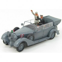 Mercedes Benz 770K Wehrmacht Mussolini And Hitler Meeting in Germany 1938 Military Grey Rio Models 4250/P