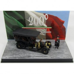 Fiat 60CV 200th Anniversary Carabineri with 2 Figures 1905 Black Rio Models 200-1/D