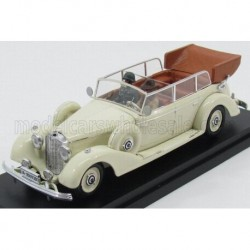 Mercedes Benz 770K Cabriolet whith figures Eva Braun and SS Military Guard - Hitler's Wife 1938 White Rio Models 4490/P