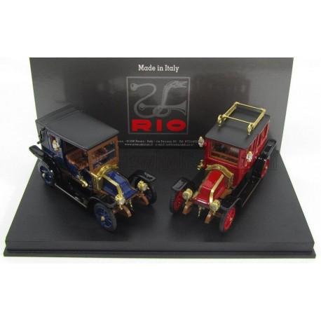 Renault - Set - Tipo X + AG 1907 1907 Blue Red Black Rio Models 4456/D
