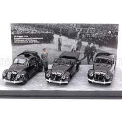 Volkswagen 3 Beetle Official Presentation with Hitler Figures Black Rio Models 4217/D