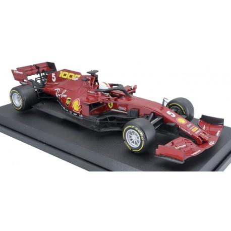 Ferrari SF1000 5 F1 Toscane Mugello 2020 Sebastian Vettel 1000th Ferrari GP Bburago 16808VTU