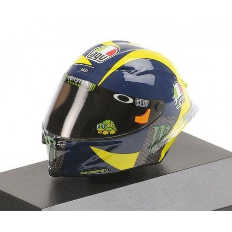 Casque Helmet 1/8 AGV Valentino Rossi Moto GP 2018 Minichamps 399180046
