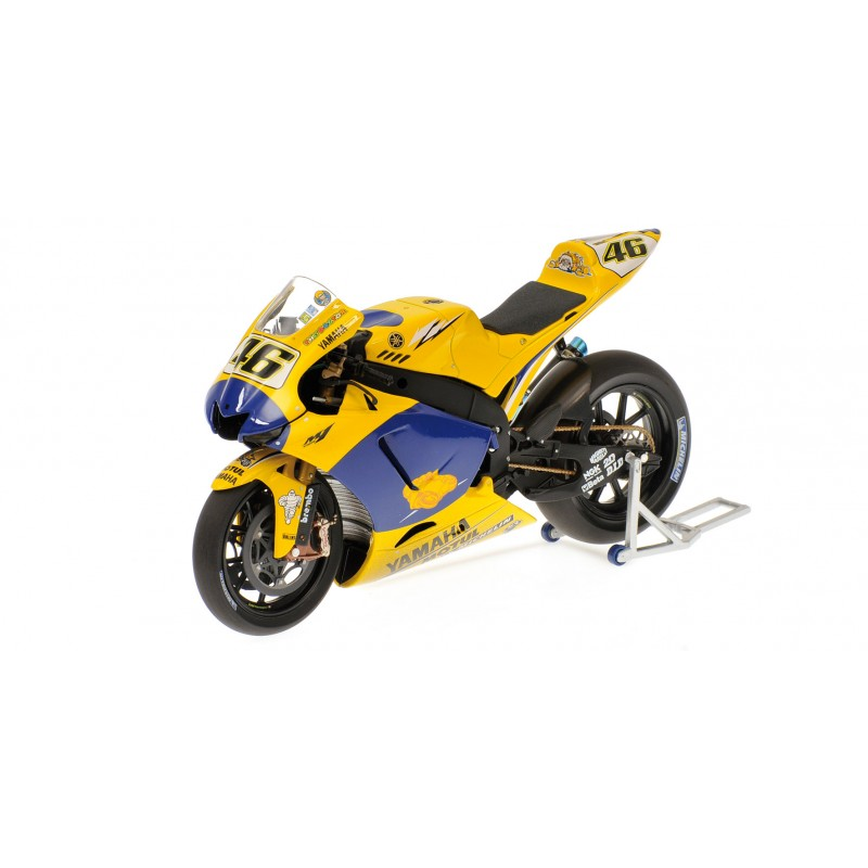yamaha yzr m1 moto gp 2006 valentino rossi avec figurine minichamps 322063146 miniatures. Black Bedroom Furniture Sets. Home Design Ideas