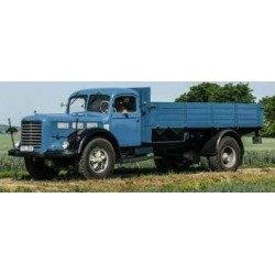 Skoda 706 R flatbed platform trailer 1952 Blue Black IXO PCL47129