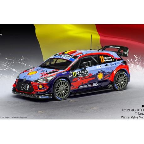 Hyundai i20 Coupe WRC 11 Winner Rallye Monte Carlo 2020 Neuville Gilsoul IXO RAM743