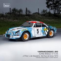 Alpine Renault A110 5 Rallye Tour de Corse 1973 Piot - De Alexandris IXO 18RMC062C
