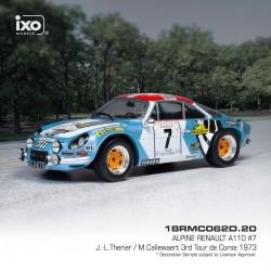 Alpine Renault A110 7 Rallye Tour de Corse 1973 Therier - Callewaert IXO 18RMC062D