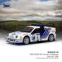 Ford RS200 6 RAC Rally 1986 K. Grundel - B. Melander IXO RAC314
