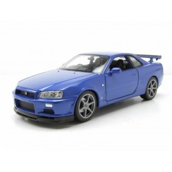Nissan Skyline GT-R R34 Metallic Blue Welly WEL24108W.MET.BLUE