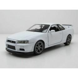 Nissan Skyline GT-R R34 White Welly WEL24108W.WHITE