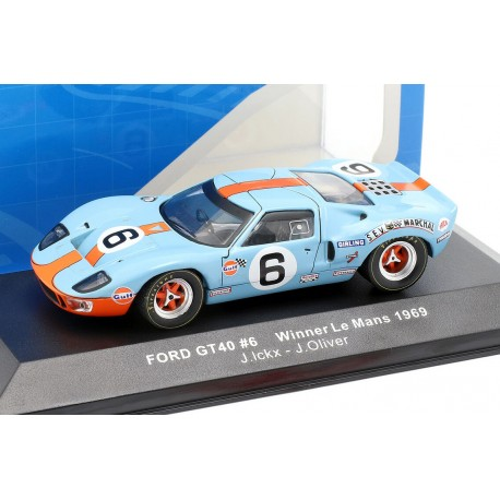 Ford GT40 6 Winner 24 Heures du Mans 1969 IXO LM1969